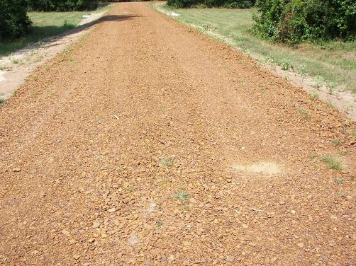 Washed Iron Ore on driveway... also used for roads and well sites