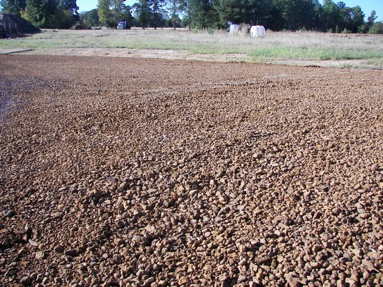 Washed Iron Ore on well site... also used for roads and driveways