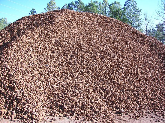 2'' Iron Ore Clean Rock used for erosion control, to repair badly damaged roads and landscaping