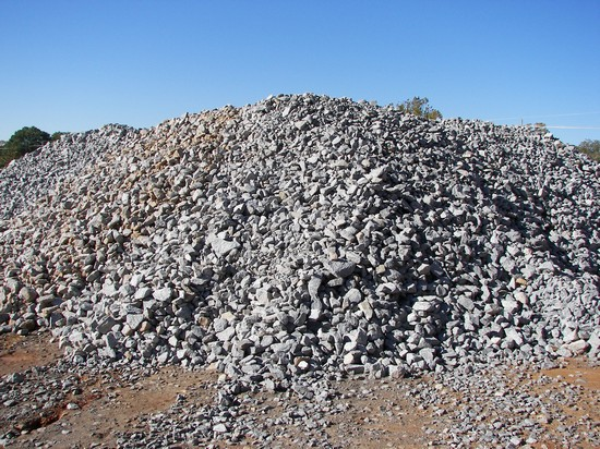 3'' x 5'' Granite used for erosion control or roadway build up and repair