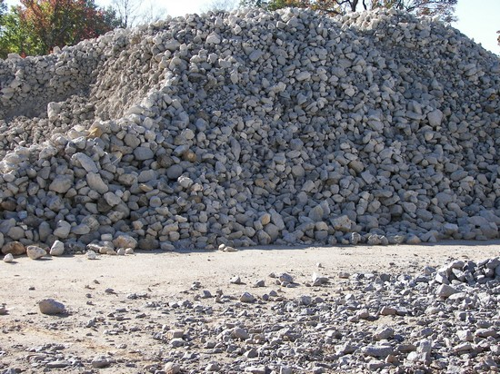 4'' x 6'' Limestone used for erosion control or roadway build up and repair