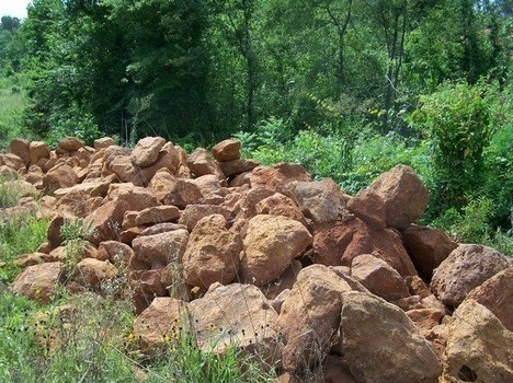 Iron Ore Rip Rap used for erosion control and landscaping