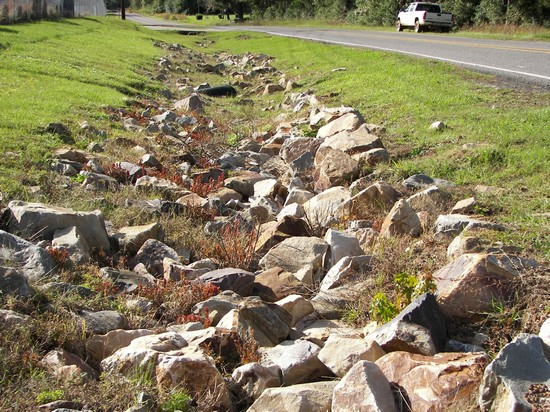 Oklahoma Rip Rap used for erosion control and landscaping