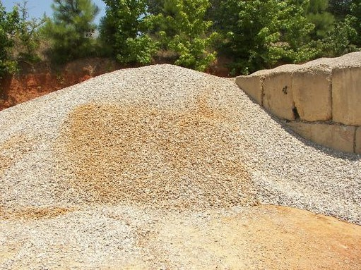 1'' River Rock is used for field lines and landscaping